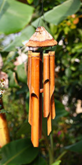 Bamboo Wind Chimes - Natural