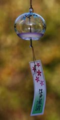 Glass Wind Chimes 'Edo Furin' Dragonfly