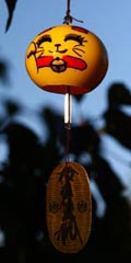 Glass Wind Chimes 'Edo Furin' Lucky Cat