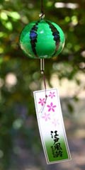 Glass Wind Chimes 'Edo Furin' Melon