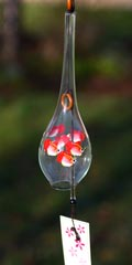 Glass Wind Chimes 'Edo Furin' Angelfish