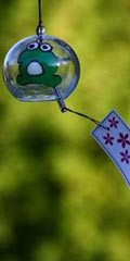 Glass Wind Chimes 'Edo Furin' Frog