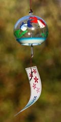 Glass Wind Chimes 'Edo Furin' Goldfish