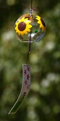 Glass Wind Chimes 'Edo Furin' Sunflower