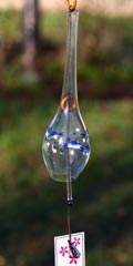 Glass Wind Chimes 'Edo Furin' Sweetfish