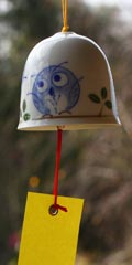Ceramic Wind Bell - Owl