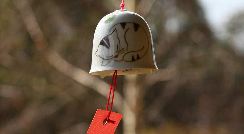 Porcelain Wind Bells from Imari
