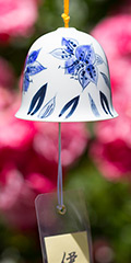 Ceramic Wind Bell - Lily (Blue)